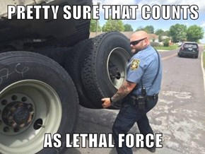 PRETTY SURE THAT COUNTS  AS LETHAL FORCE