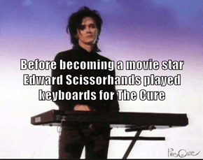Before becoming a movie star Edward Scissorhands played keyboards for The Cure