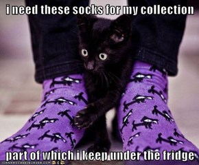 i need these socks for my collection  part of which i keep under the fridge