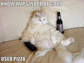 KNOW WATS WOOD BE GOOD  USED PIZZA