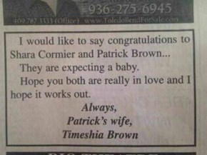 Patrick's Wife Sends Her Regards
