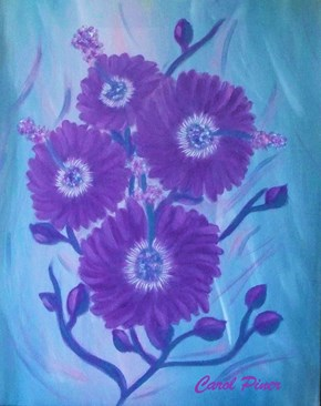 "My latest is a 16x20"" canvas called Hibiscus Glory"