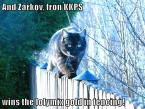 And Zarkov, fron KKPS  wins the lolymix gold in fencing!