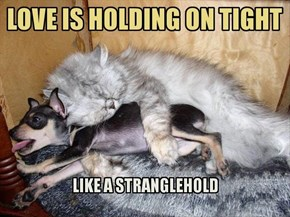 Love is holding on tight