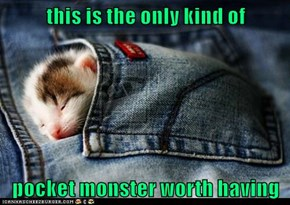 this is the only kind of  pocket monster worth having
