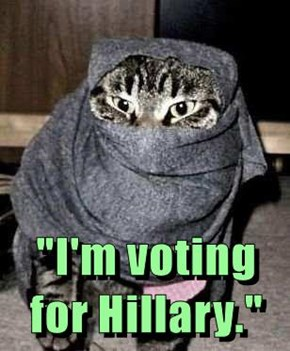"""""""I'm voting for Hillary."""""""