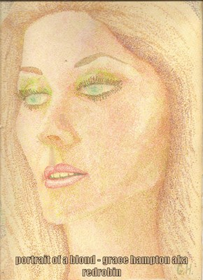 portrait of a blond - grace hampton aka redrobin