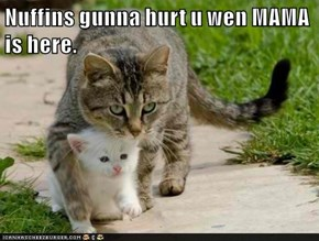 Nuffins gunna hurt u wen MAMA is here.
