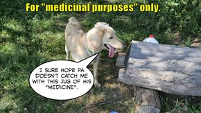 """For """"medicinal purposes"""" only."""