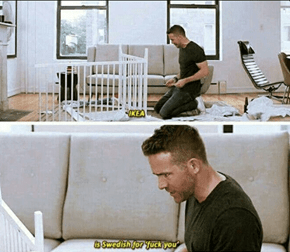 Deadpool Trying to Assemble Furniture Be Like