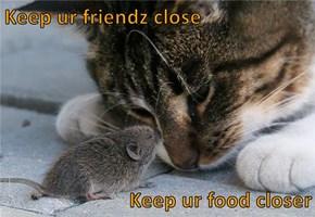 Keep ur friendz close  Keep ur food closer