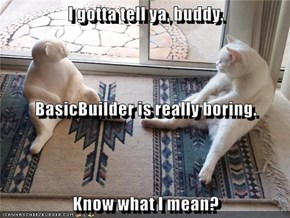 I gotta tell ya, buddy.  BasicBuilder is really boring. Know what I mean?