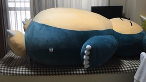 People out There Are Getting Real Creative with Their Larger than Life Snorlax Cushions