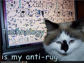 Technology is my anti-rug.