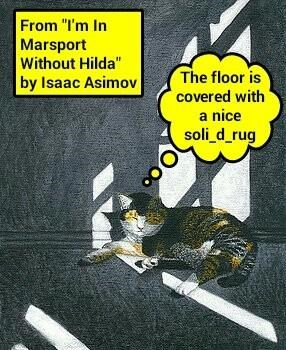 Isaac Asimov's rug lol