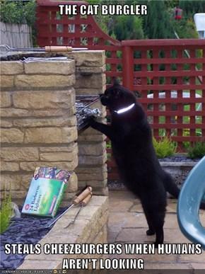 THE CAT BURGLER  STEALS CHEEZBURGERS WHEN HUMANS AREN'T LOOKING