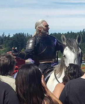 Looks Like Geralt's Taken Up Jousting