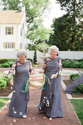 This Bride and Groom Asked Their Grandmas to be Flower Girls
