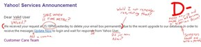 I love grading phishing scams