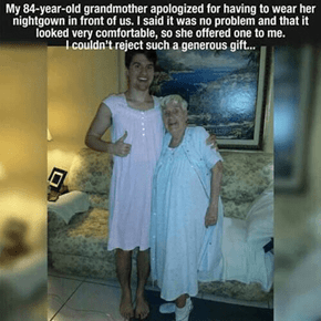 Gowned Up with Grandma