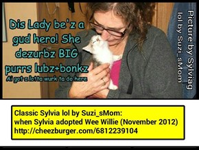 Classic Sylvia lol by Suzi_sMom http://cheezburger.com/6812239104