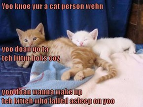 Yoo knoe yur a cat person wehn...