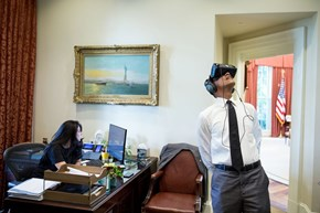 Obama Was Caught Wearing Virtual Reality Goggles, and the Internet Brewed up an Epic Photoshop Battle