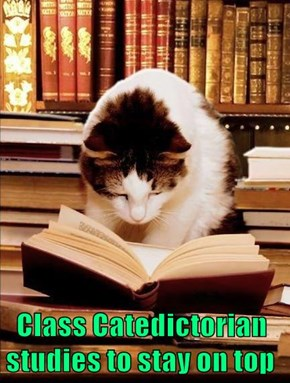 Class Catedictorian studies to stay on top