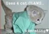 Uses 4 cat CLAWS..  operating♥