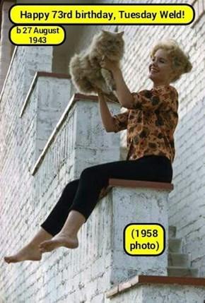 Happy 73rd, Ms Weld! (recaption: http://tinyurl.com/zfzjty7