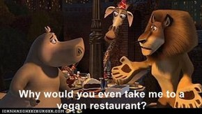 Why would you even take me to a vegan restaurant?