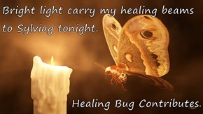 Bright light carry my healing beams to Sylviag tonight.  Healing Bug Contributes.