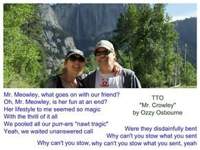 """""""Mr. Meowley"""" (TTO """"Mr. Crowley"""" by Ozzy Osbourne)"""