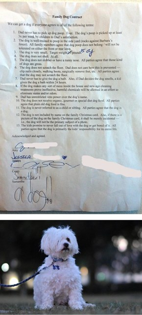This Dad Drew Up One Hilarious Contract for His Kids Before Agreeing to Get a Dog