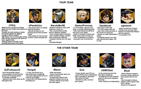 Accurate Overwatch Team Descriptions
