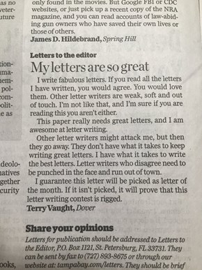 This Letter to the Editor is a Huuuuuge Success of Parodying Donald Trumps Speaking-Style