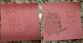 Witty Girlfriend Leaves the Most Adorable Post-its For Her Boyfriend Everyday