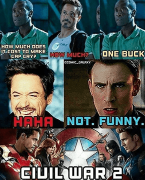 Looks Like Captain America: Civil War 2 Is Taking A Comedic Turn