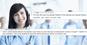 """Nurses on Reddit Revealed Their Favorite Answers to the Famous """"Sexual History"""" Question"""