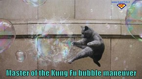Master of the Kung Fu bubble maneuver