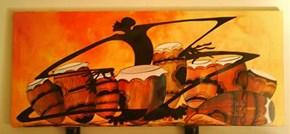 """Nice """"new""""african painting @ ToolBee's :)"""