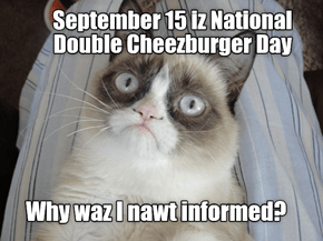Sept. 15 Nashunal Double Cheezburger Dai