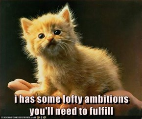i has some lofty ambitions you'll need to fulfill
