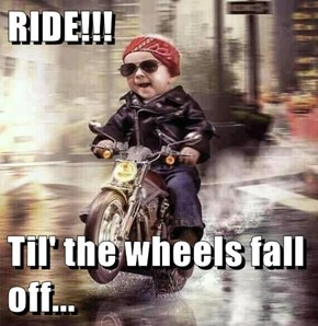 RIDE!!!  Til' the wheels fall off...
