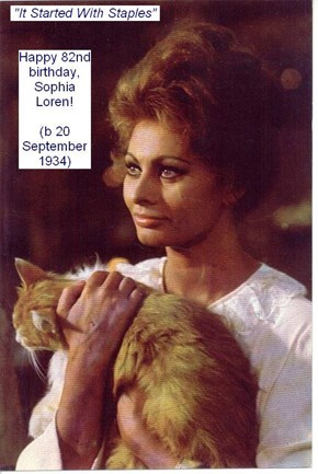 Happy Purrthday, Sophia Loren