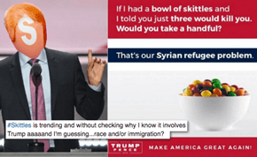 Donald Trump Jr. Used a Skittles Metaphor for Refugees and It's Got Twitter Groaning More Than An Actual Cavity