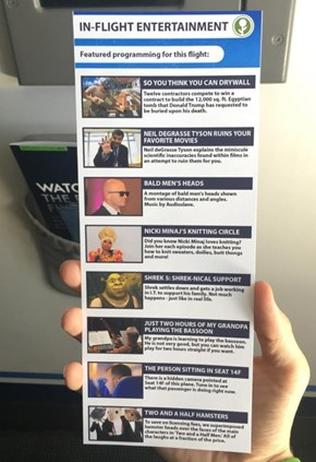 These Prank In-Flight Movies are Probably Better Than Some of the Actual Choices