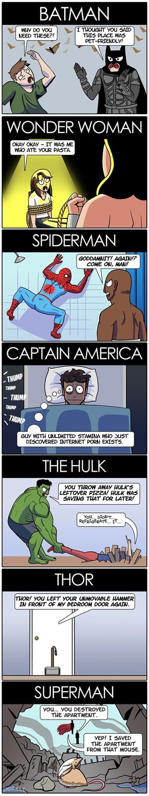 Superheroes Would Make For Real Tough Roommates