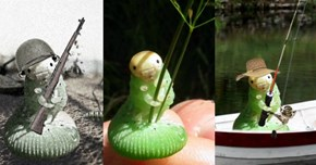 This Adorable Caterpillar Posed Holding a Blade of Grass, so of Course It Became a Photoshop Battle
