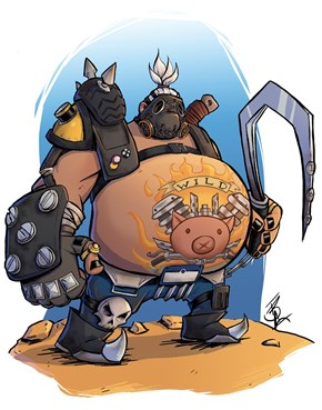 Overwatch's Roadhog Finally Gettin The Fan Art He Deserves